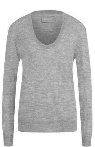 Шерстяной пуловер с круглым вырезом Zadig&Voltaire