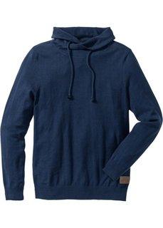Пуловер Regular Fit (темно-синий меланж) Bonprix