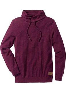 Пуловер Regular Fit (красный меланж) Bonprix