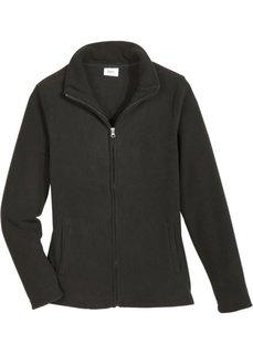 Базовая флисовая куртка (черный) Bonprix