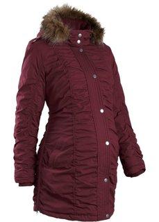 Зимняя куртка для будущих мам, регулируемая по ширине (кленово-красный) Bonprix