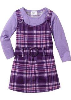 Платье-сарафан 2 в 1 (темно-лиловый/сиреневый в клетку) Bonprix