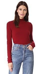 Bop Basics Mock Neck Cashmere Sweater