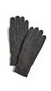White + Warren Cashmere Cross Stitch Gloves