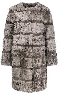 Пальто из овчины с отделкой мехом козлика Virtuale Fur Collection
