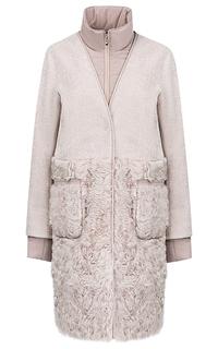 Пальто-трансформер из вязаной овчины и меха козлика Virtuale Fur Collection