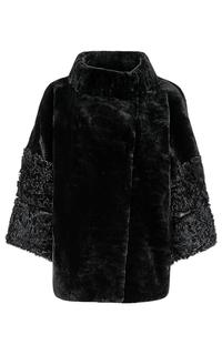 Шуба из овчины и меха козлика Virtuale Fur Collection