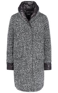 Фактурное пальто на натуральном пуху La Reine Blanche
