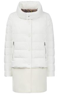 Белое пальто на натуральном пуху Martylo