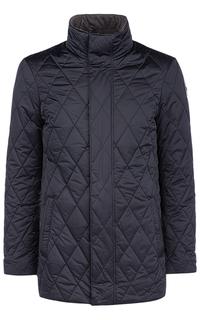 Утепленная куртка c отделкой натуральной кожей Vittorio Emanuele