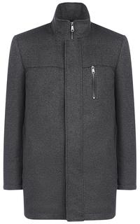 Пальто на синтепоне с отделкой экокожей Al Franco