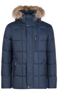 Зимняя куртка с отделкой мехом енота Al Franco