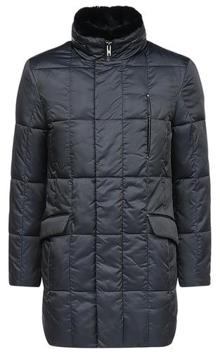 Утепленная куртка с отделкой мехом кролика