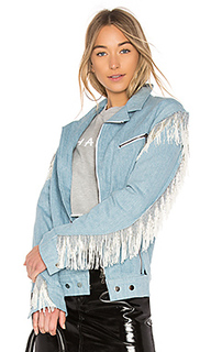 Жакет с бахромой biker jacket - Baja East
