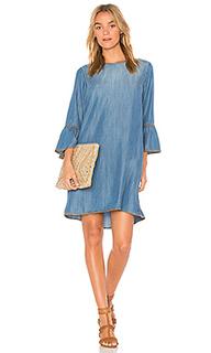 Платье с декоративными швами и воланами на рукавах - Bella Dahl