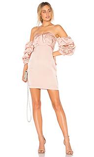 Атласное платье choker - Endless Rose