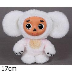 Мягкая игрушка Чебурашка с белым мехом, МУЛЬТИ-ПУЛЬТИ