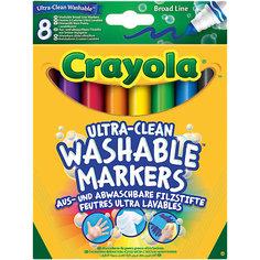 """Набор смываемых фломастеров с толстым наконечником """"Супер чисто"""", 8 шт., Crayola"""