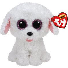 "Мягкая игрушка ""Щенок (белый) Pippie , 15 см"", Beanie Boos, Ty"