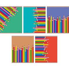 """Комплект тетрадей """"Цветные карандаши"""" (10 шт), 48 листов, Канц-Эксмо"""