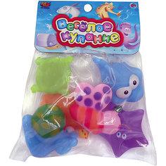 """Набор резиновых игрушек для ванной """"Веселое купание"""", 6 предм., ABtoys"""