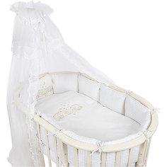 Постельное белье для овальной кроватки Звездочка, 6 пред., Pituso, бежевый