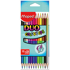 Карандаши цветные Maped, двухсторонние 24 цвета
