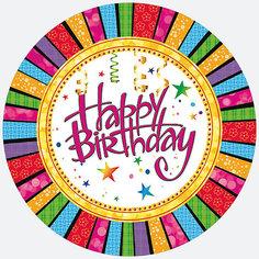 Тарелки Happy Birthday,Материал: лам.картон 230 г/м2 Susy Card
