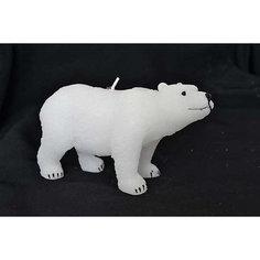 """Свеча Winter Wings """"Полярный медведь"""", 14х7 см"""