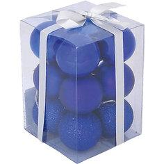 Набор елочных шаров Magic Land 12 шт, 6 см (синие) Волшебная Страна