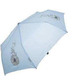 Голубой складной зонт с цветочным принтом Doppler