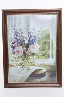 """Постер """"Цветы у окна"""" F.A.L"""