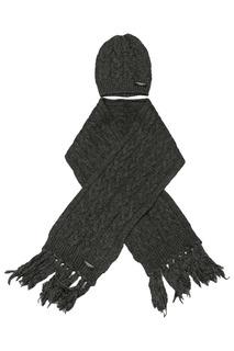 Шапка с шарфом ASTON MARTIN