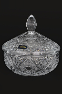 Конфетница с крышкой 15 см Crystalite Bohemia