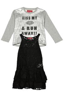 Комплект: платье, толстовка Gaudi