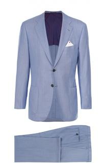 Шерстяной приталенный костюм Kiton