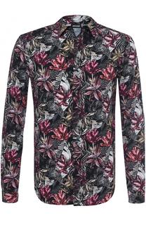 Рубашка из вискозы с принтом Just Cavalli