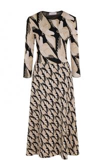 Приталенное платье-миди с укороченным рукавом и принтом Tak.Ori