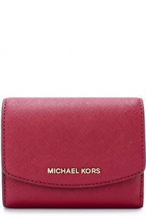 Кожаный кошелек с клапаном и логотипом бренда MICHAEL Michael Kors