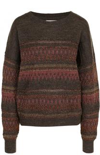 Шерстяной пуловер с металлизированной нитью Isabel Marant Etoile