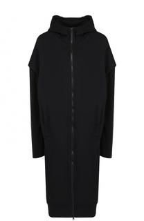 Хлопковое пальто на молнии с капюшоном Y-3
