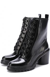 Кожаные ботильоны на шнуровке Marc Jacobs