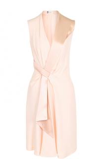 Приталенное мини-платье с запахом Lanvin