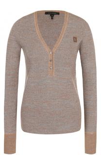 Шерстяной пуловер с V-образным вырезом Marc Jacobs