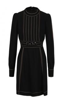 Мини-платье с поясом и рукавом-фонарик Marc Jacobs