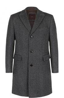 Однобортное пальто из смеси шерсти и шелка Windsor