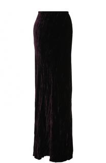 Однотонная бархатная юбка-макси Ann Demeulemeester