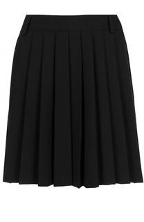 Однотонная мини-юбка в складку REDVALENTINO