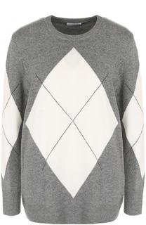 Пуловер прямого кроя с круглым вырезом и принтом Equipment