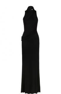 Приталенное платье-макси с драпировкой Givenchy